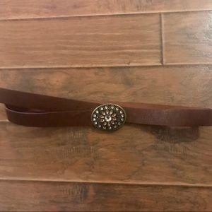 Faded Glory Embellished Belt Buckle & Belt…